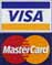 We accept Visa and Master Card